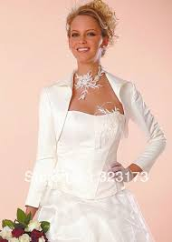 bol ro mariage new style blanc à manches longues châle de mariée boléro mariage