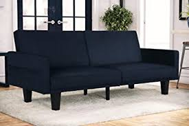 amazon com dhp metro split modern futon with storage pocket