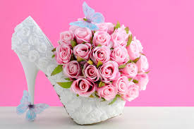 theme wedding bouquets pink and white theme wedding bouquet concept stock image image