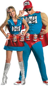 Muscle Man Halloween Costume Couples Costume Classic Duff Muscle Man Costume Duff Man Costume
