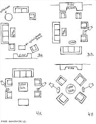 living room furniture arrangement with corner fireplace