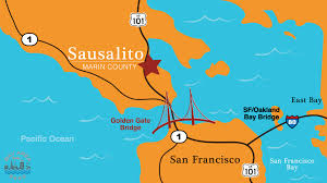San Francisco Districts Map by Sausalito Bay Area Drop In