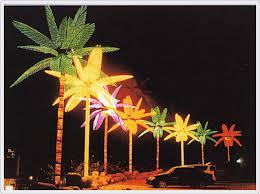 palm tree christmas tree lights custom made palm trees the lighted palm tree and the fireworks light