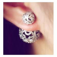 sided earrings best 25 earrings ideas on ear piercings
