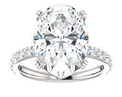 Blake Lively Wedding Ring by Custom Celebrity Moissanite Oval U0026 Diamond Engagement Ring