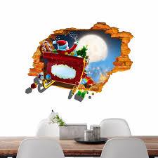 pag 3d christmas santa claus car sticker wall decals home 3d pag 3d christmas santa claus car sticker wall decals home 3d christmas wall hole decor gift