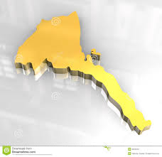 Eritrea Map 3d Golden Map Of Eritrea Royalty Free Stock Photo Image 6624545