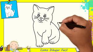 imágenes de gatos fáciles para dibujar dibujos de gatos faciles paso a paso para niños como dibujar un