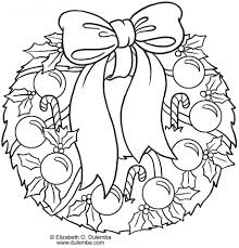 100 christmas wreath coloring pages for kids christmas