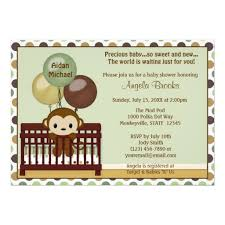 mod baby shower personalized monkey baby shower invitations custominvitations4u