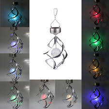 Colour Changing Solar Garden Lights - colour changing solar wind spinner light lamp lantern garden