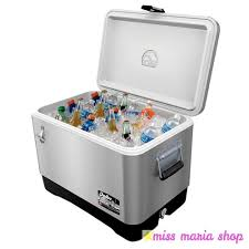 Stainless Steel Ice Chest On Wheels Costco by Cooler Large Igloo Cool Box Stainless Steel 51 Ltr Ice Chest