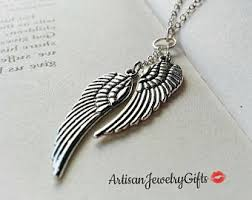 silver wing necklace images Silver wing necklace etsy jpg