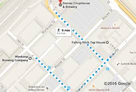 self guided tour maps of breweries and bars in denver colorado