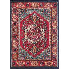 safavieh monaco red turquoise 11 ft x 15 ft area rug mnc207c