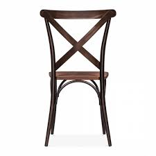 Wooden Bistro Chairs Cult Living Crossed Back Bistro Chair With Wood Seat In Raw Cult Uk