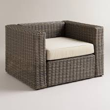 all weather wicker formentera outdoor chair with cushion world