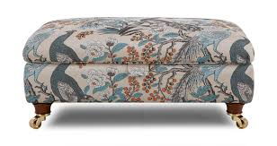 morris large pattern storage footstool dfs