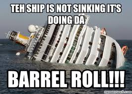 Do A Barrel Roll Meme - don t sink they do da barrel roll
