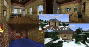 Winter Houses Winter Christmas House Minecraft Project