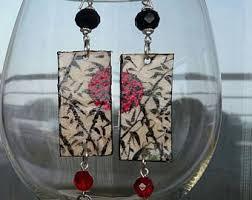paper mache earrings paper mache earrings etsy