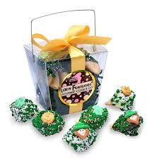 Cookie Gift Baskets St Patrick U0027s Day Custom Fortune Cookie Gift Pail Gift Baskets Plus