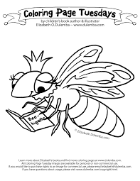 dulemba coloring tuesday queen bee