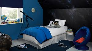 boys outer space bedroom painting constellations on wall artist space
