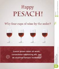 four cups passover happy passover 4 cups of wine for seder stock illustration
