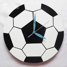 Best Wall Clock New Arrival Fashionable Creative Football Design Acrylic Wall