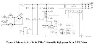 triac dimmer for led lighting the supply current lamp linearly