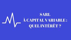 changement de si e social sarl sarl à capital variable quel intérêt créer une sarl