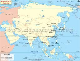 map of asia countries and cities asian cities cities in asia major cities in asia