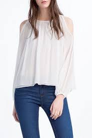 sleeve chiffon blouse stylish open shoulder lantern sleeve chiffon blouse oasap com
