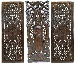 wooden wall plaques decor multi panels home decor wood carved floral wall