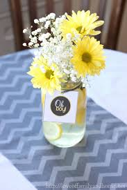 gray u0026 yellow baby shower decorating ideas love of family u0026 home