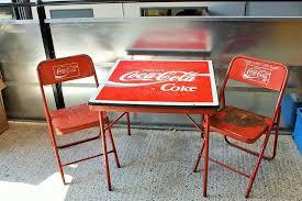 Coca Cola Chairs Coca Cola Table 2 Chairs Xxxx Antique Complex