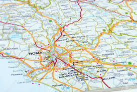 Map Rome Close Up Of An Italian Road Map Showing Rome Stock Photo Picture