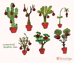 tropical christmas trees clipart commercial use cactus banana