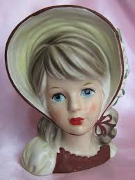 447 best lady head vases images on pinterest head planters wall