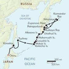 Frontier Flight Map Russian Far East Itinerary U0026 Map Wilderness Travel