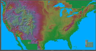 Map Of North Eastern Usa by Shaded Relief Maps Of The United States
