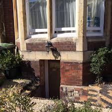 exterior door in basement conversion in victorian terrace with bay