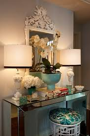 mirrored accent table spark