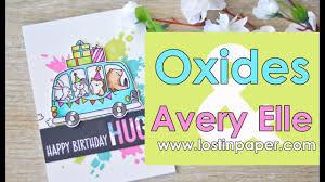 Avery Invitation Cards Colour With U0027u U0027 Oxides U0026 Avery Elle At Scrapbook Boutique Youtube