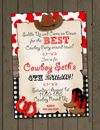 Invitation Cards For 25th Wedding Anniversary Cowboy Birthday Party Invitation Cowboy Invitation Digital