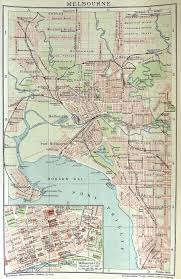 Maps C Melbourne Street Map C 1890 Melbourne Suburbs And Country