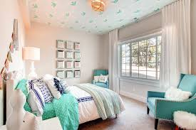 Teen Chandeliers Teen Girls Bedroom With Turquoise Accent Kids Transitional With