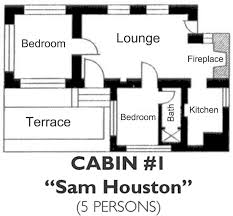 fishing cabin floor plans bastrop state park cabin 1