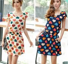 fashion women girls summer casual colorful hearts short mini